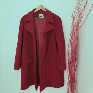 HOST PICK Hilary Radley Red Button Wool Blend Coat